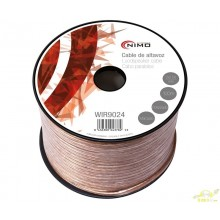 Bobina Cable Altavoz Transparente Polarizado 2x2,5mm