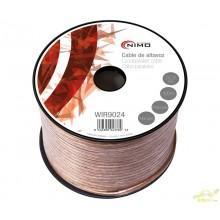 Bobina Cable Altavoz Transparente Polarizado 2x2,5mm
