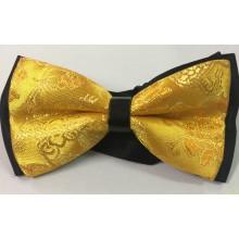 Pajarita amarilla con fondo negro