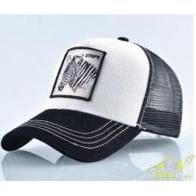 Gorra de moda beisbol cebra blanca negra