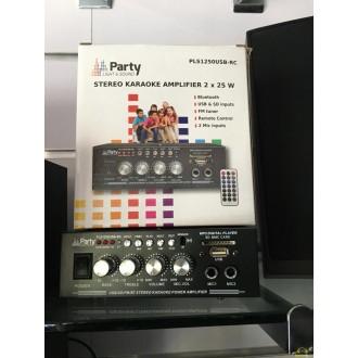 Amplificador con toma de microfono y usb