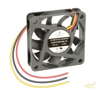 Ventilador 12v 3 hilos 60x60x15,0mm VEN036