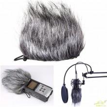 Quitavientos de pelo para Microfonos Grabadoras zoom H1 h2n h4n Q3