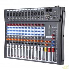 Mezclador 12 canales con eco y mp3 usb