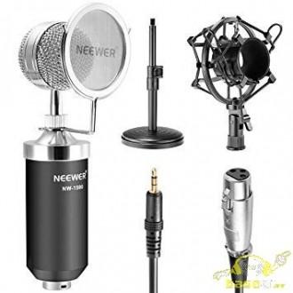 KIT Microfono estudio de grabacion araña soporte