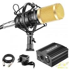 Microfono estudio condensador y araña y fuente Phatom