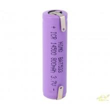 Batería recargable Li-Ion IRC14500, Con cto. de control.