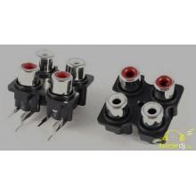 4 RCA Placa PCB Repuesto altavoces