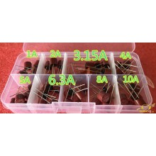 Caja fusibles cilindricos surtido de 1 amp a 10 amp