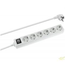 Regleta 6 tomas con interruptor 1,5m de cable.