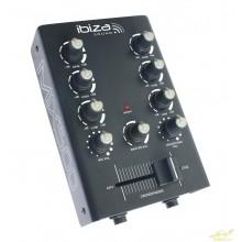 Ibiza Sound MIX 500 Mesa de mezclas 2 canales y microfono