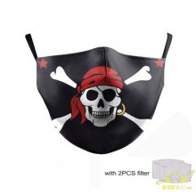 Macara diseño covid 19 reutilizable bandera pirata