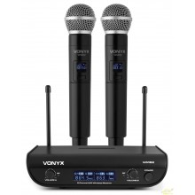 Doble microfono uhf de mano WM82