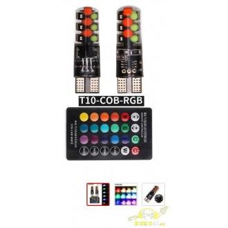 LED T10RGB W5W + Control remoto, 12Chips
