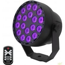 Foco par led uv luz negra 56 w Con mando a distancia