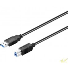 Conexión USB-A 3.0 macho-macho USB-B 3.0