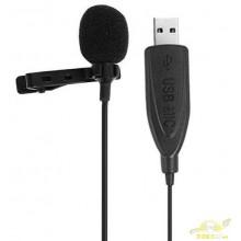 Micrófono USB 2,0 Lavalier con Clip en el cuello.