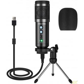 Micrófono usb pc de condensador para grabaciones