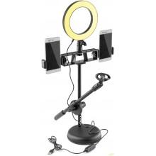 Vonyx RL20 Luz circular con soporte móvil para Sobremesa