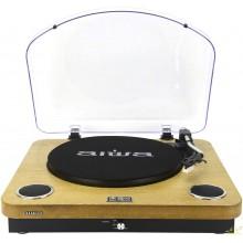 AIWA GBTUR-120WDMKII: Tocadiscos de Madera, Bluetooth