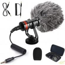 Micrófono para camaras de fotografia y video soporte cortavientos