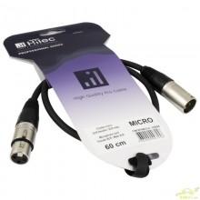 Cable XLR Macho a XLR Hembra 0,60 CM