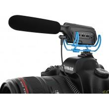 Microfono tipo cañon para camaras de fotos video