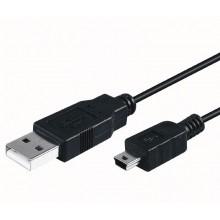 """""""A"""" USB 2.0 - """"B"""" mini macho 5 1,8m"""