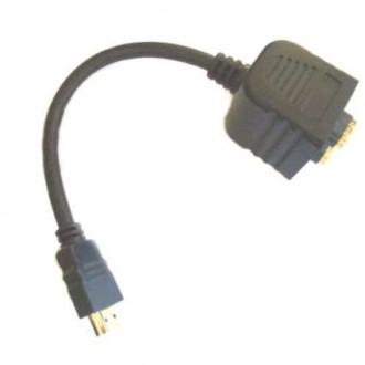 Duplicador HDMI Macho A Dos Hembras 20CM - Imagen 1