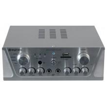 Amplificador Karaoke FM/USB/SD/Rem Plata