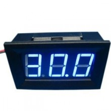 Mini Voltimetro Led Azul 3 a 30v