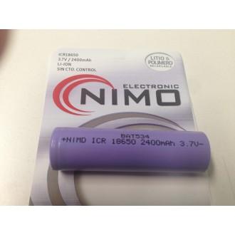 Bateria Litio Icr 18650 3,7v/2400 mAh - Imagen 1