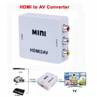 Convertidor HDMI A RCA Audio Video - Imagen 1