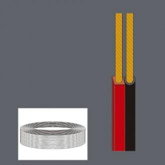 Bobina 100m 2 x1 mm rojo negro - Imagen 1