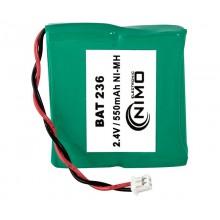 Pack de baterías 2,4V/550mAh NI-MH.