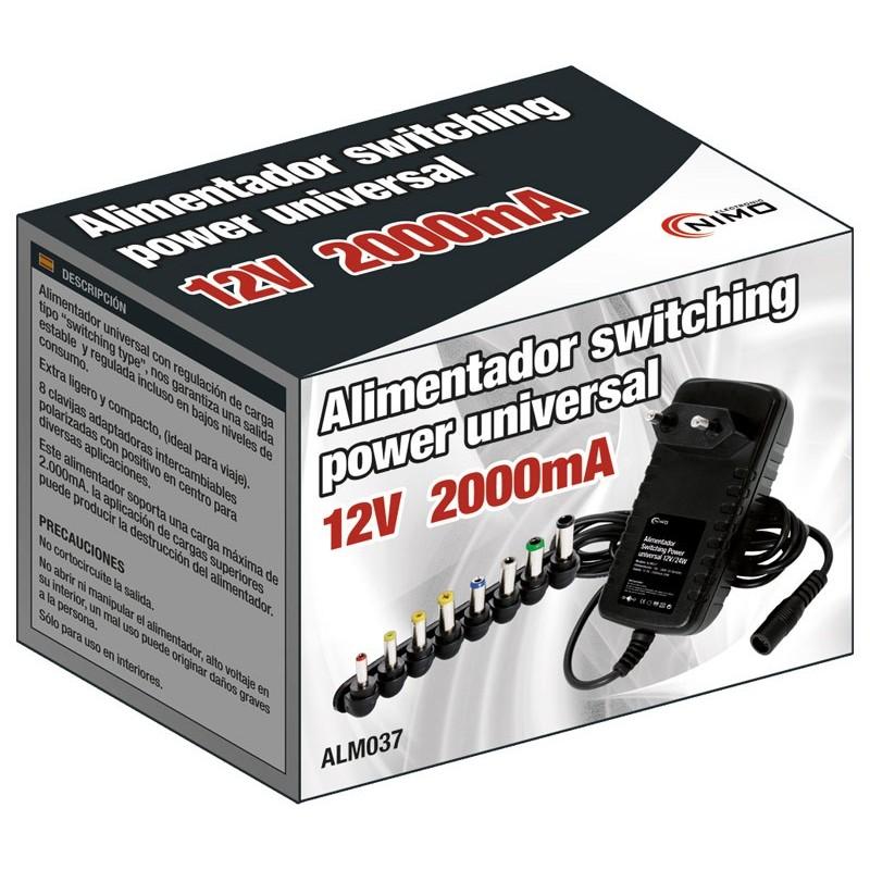 Alimentador electronico 12v 2 amp multiconector - Alimentador 12v ...