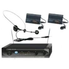 Micrófono Inalámbrico Doble Diadema MU-1002 Belt - Imagen 1