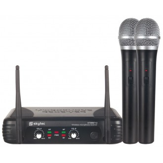 Micrófono Inalambrico Doble de mano. - Imagen 1