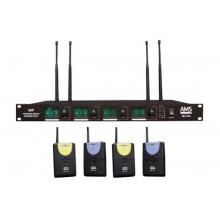 MICROFONO INALAMBRICO UHF CON 4 CANALES