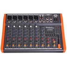 Mesa de mezclas Ibiza Sound 8 canales mx801