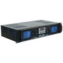 SPL 2000MP3 Amplificador con LEDs azules + EQ Negro