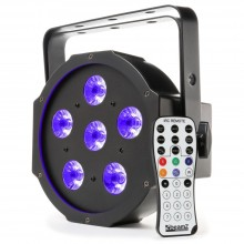 BeamZ BFP130 Foco PAR plano led 6x 6W UV
