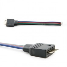 CONECTOR RGB 4 PINES MACHO TIRAS LED