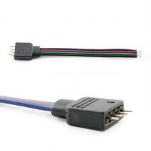 CONECTOR RGB 4 PINES MACHO TIRAS LED