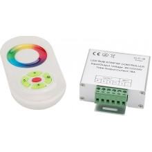 Controlador Táctil para Tiras de LEDs RGB 12/24VDC 216/432W 50M