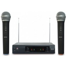 Doble Micrófono inalámbrico de mano VHF MSH-206
