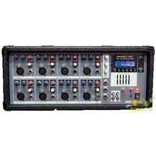Mezclador Autoamplificado de 8 canales para instalaciones portátiles