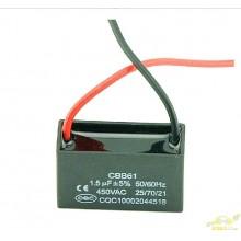 CB661 Condensador de arranque ventiladores 450v 1,5 uf