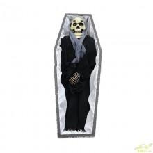 Ataud Con Esqueleto Sonido Y luz movimiento