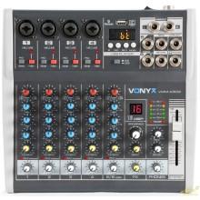 Vonyx VMM-K602 Mezclador de directo 6 canales con DSP